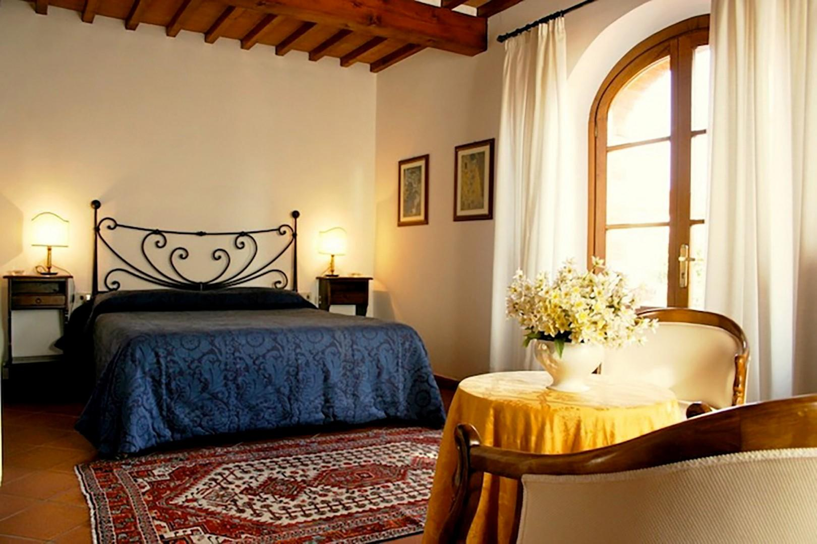 Large bedroom 1 in Belvedere has a private balcony overlooking the castle.