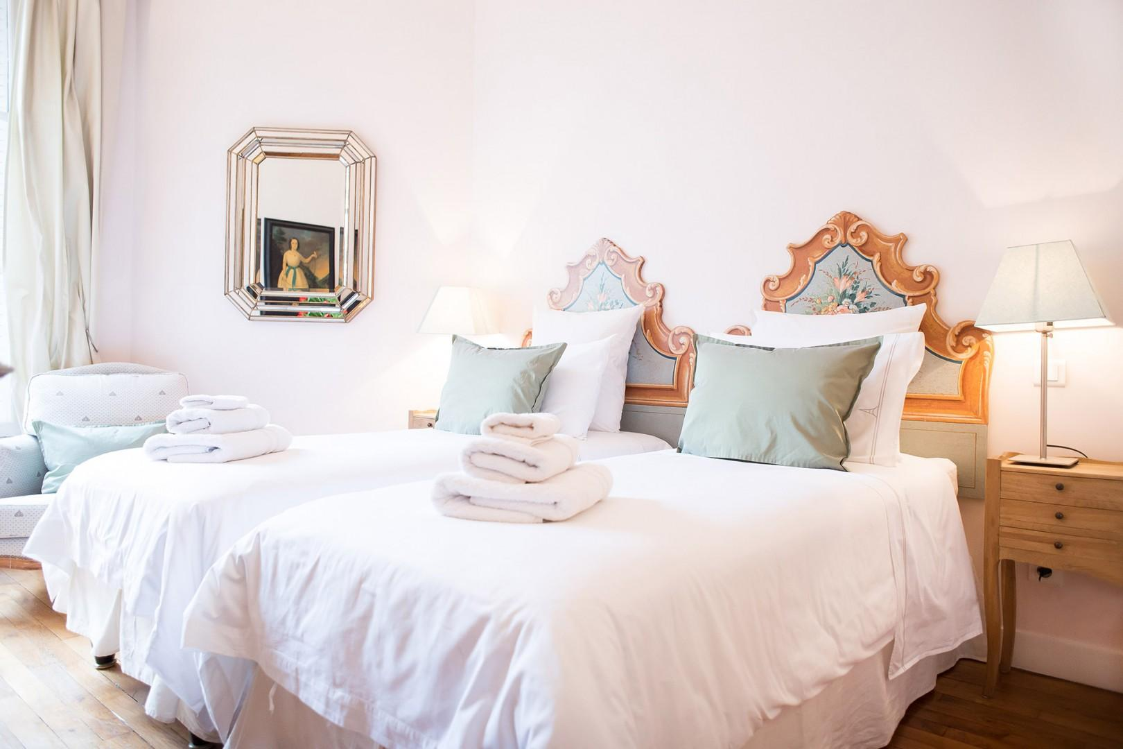 Enjoy fine furnishings and plenty of seclusion in bedroom 2.