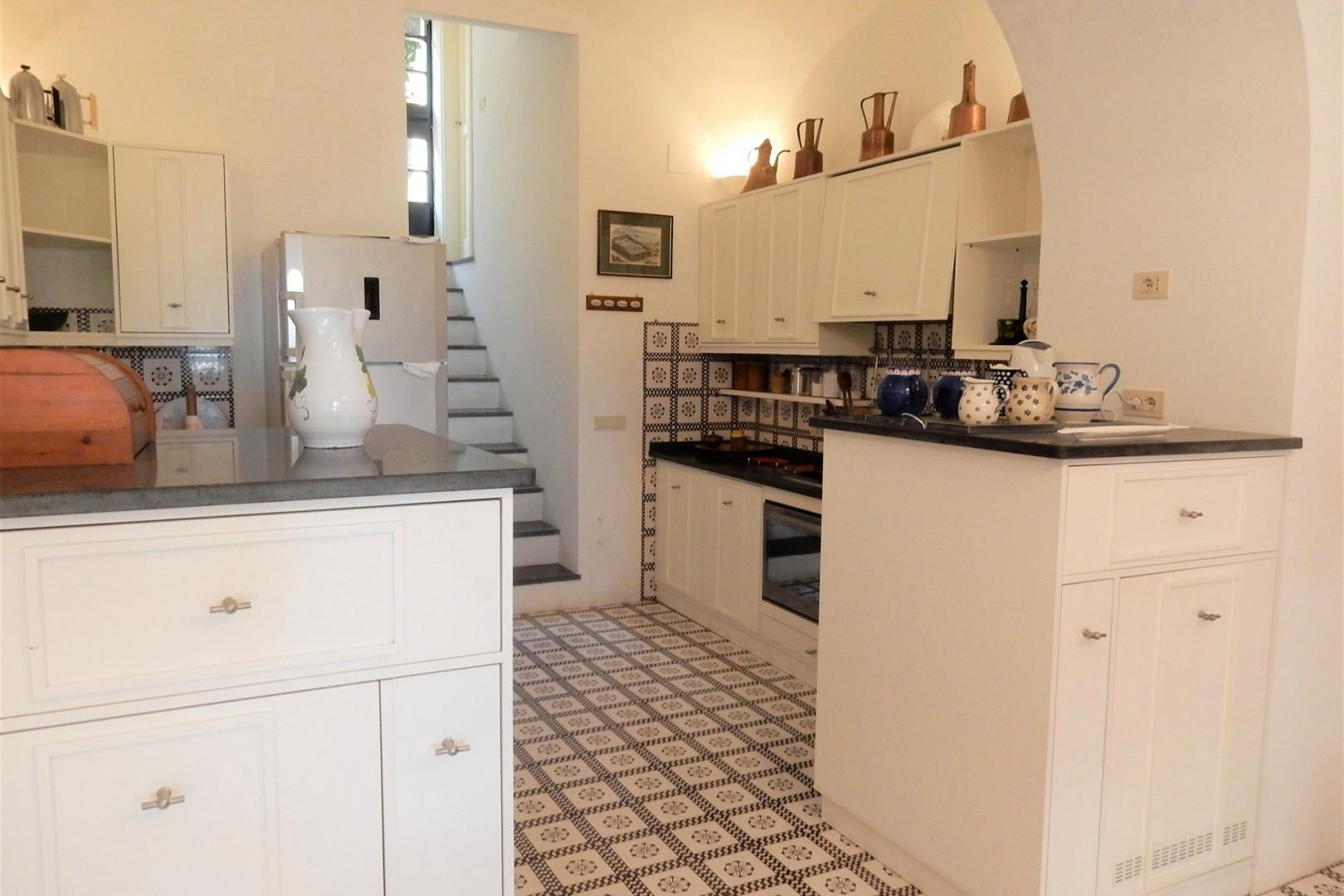 Kitchen is complete whether you wish to cook yourselves or enjoy regional cooking by the housekeeper