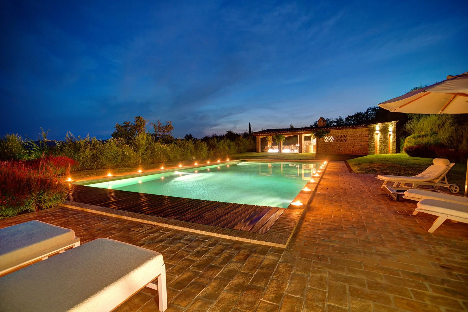 Beautiful Villa Landolfo pool beckons for relaxing summer days and nights.
