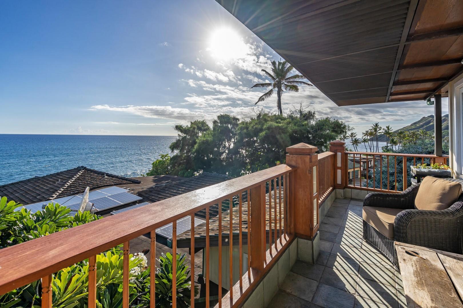 Ocean views from guest lanai