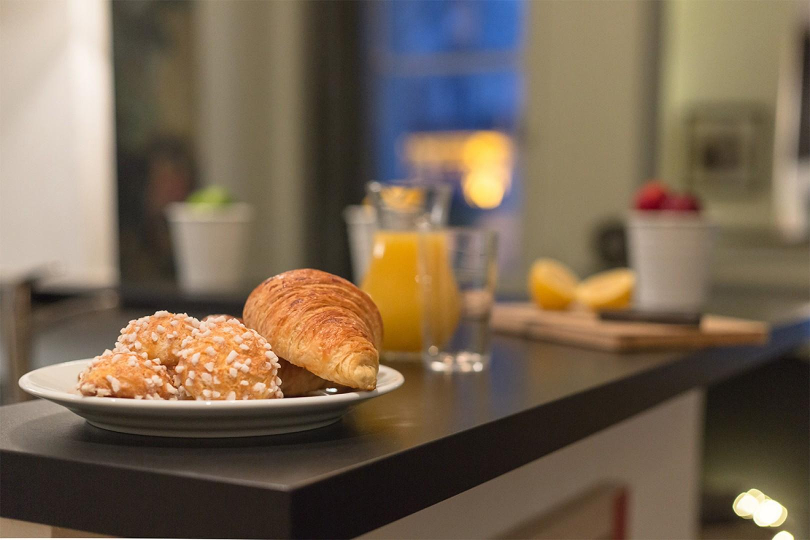 Pick up some fresh breakfast pastries from neighborhood bakeries.