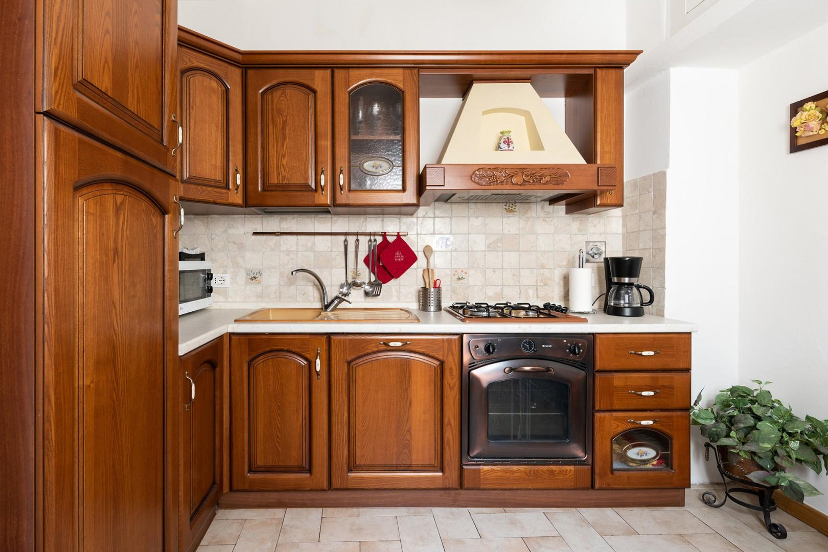 Large kitchen will make you want to try your hand at cooking at home.