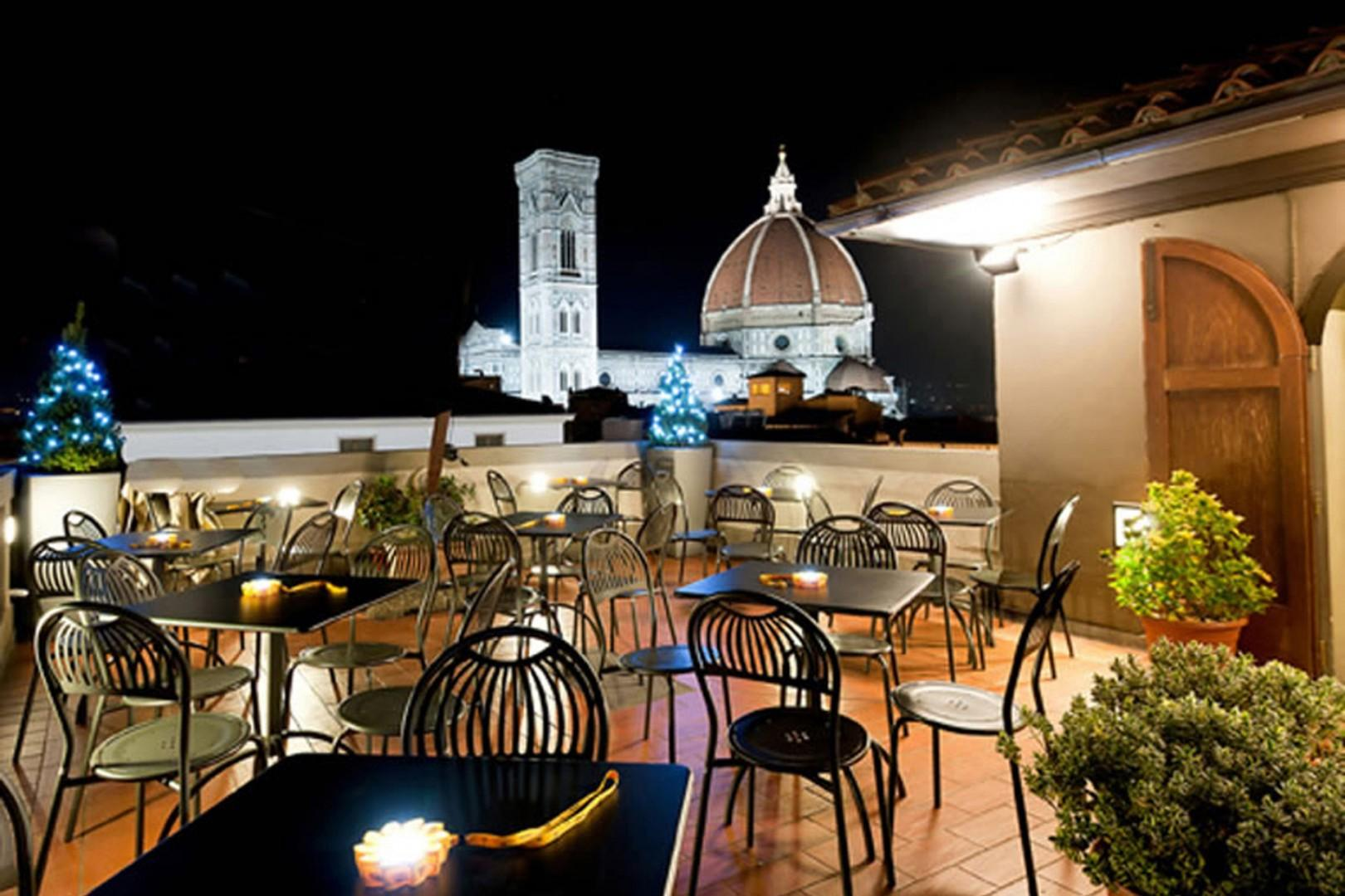 Savor the view from the rooftop cafe of Rinascente department store.
