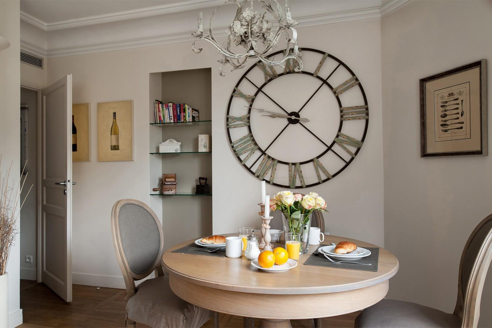 Have a French breakfast in the comfort of your own apartment.