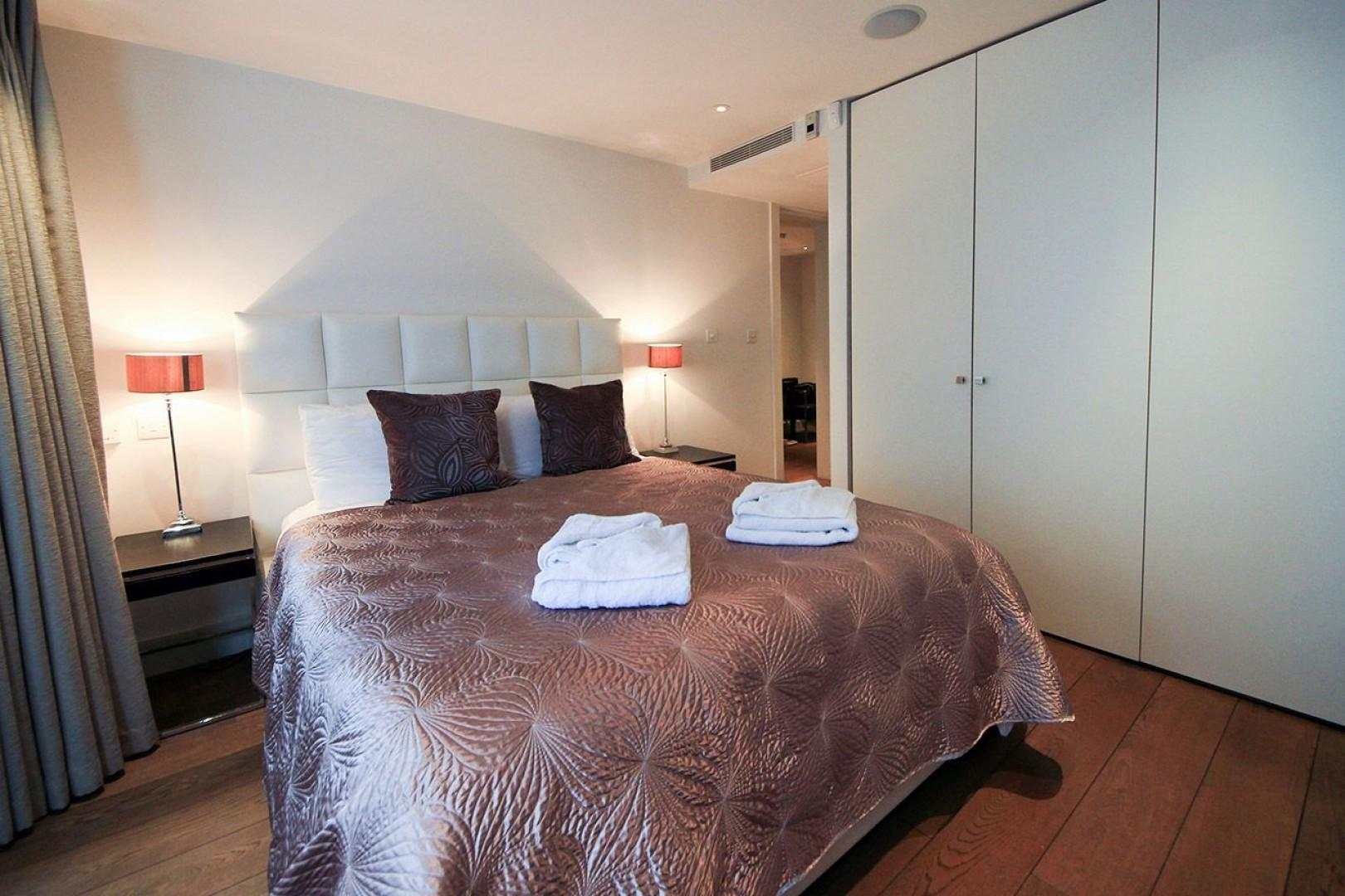 Large cupboards in the first bedroom provide extra storage