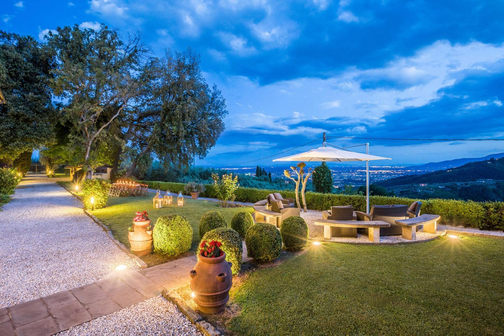 The panoramas from the villa are of the Valdinievole, the valley of the Nievole river.