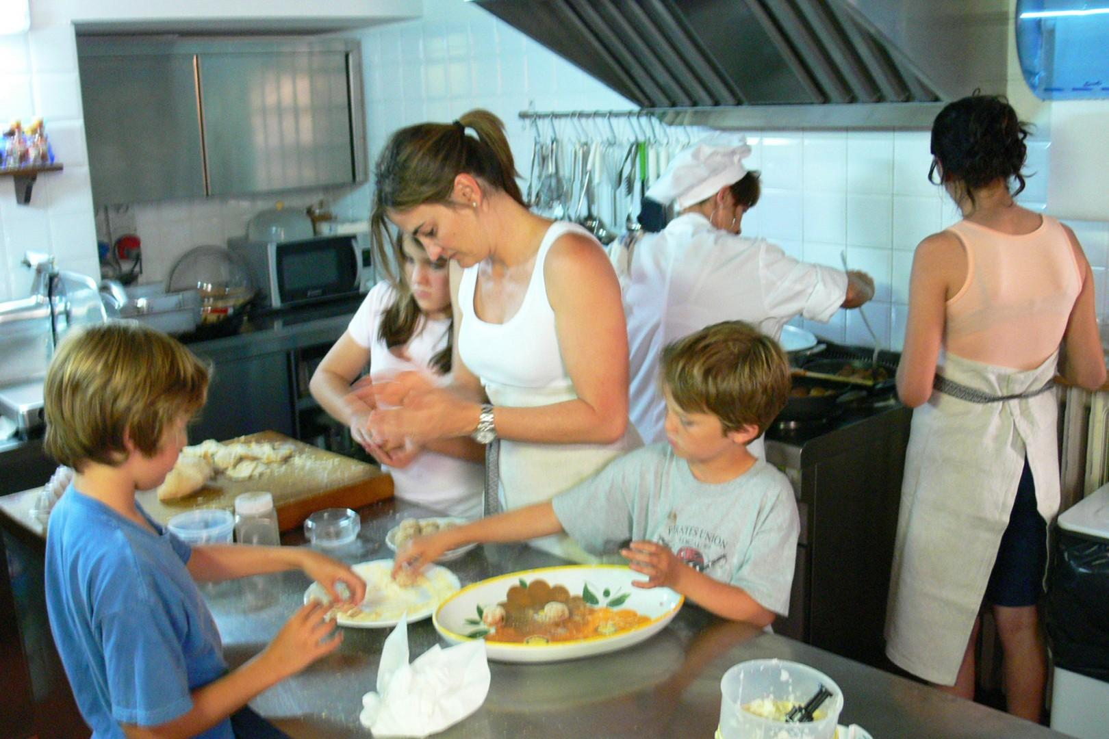 Cooking lessons are offered with advance arrangement.