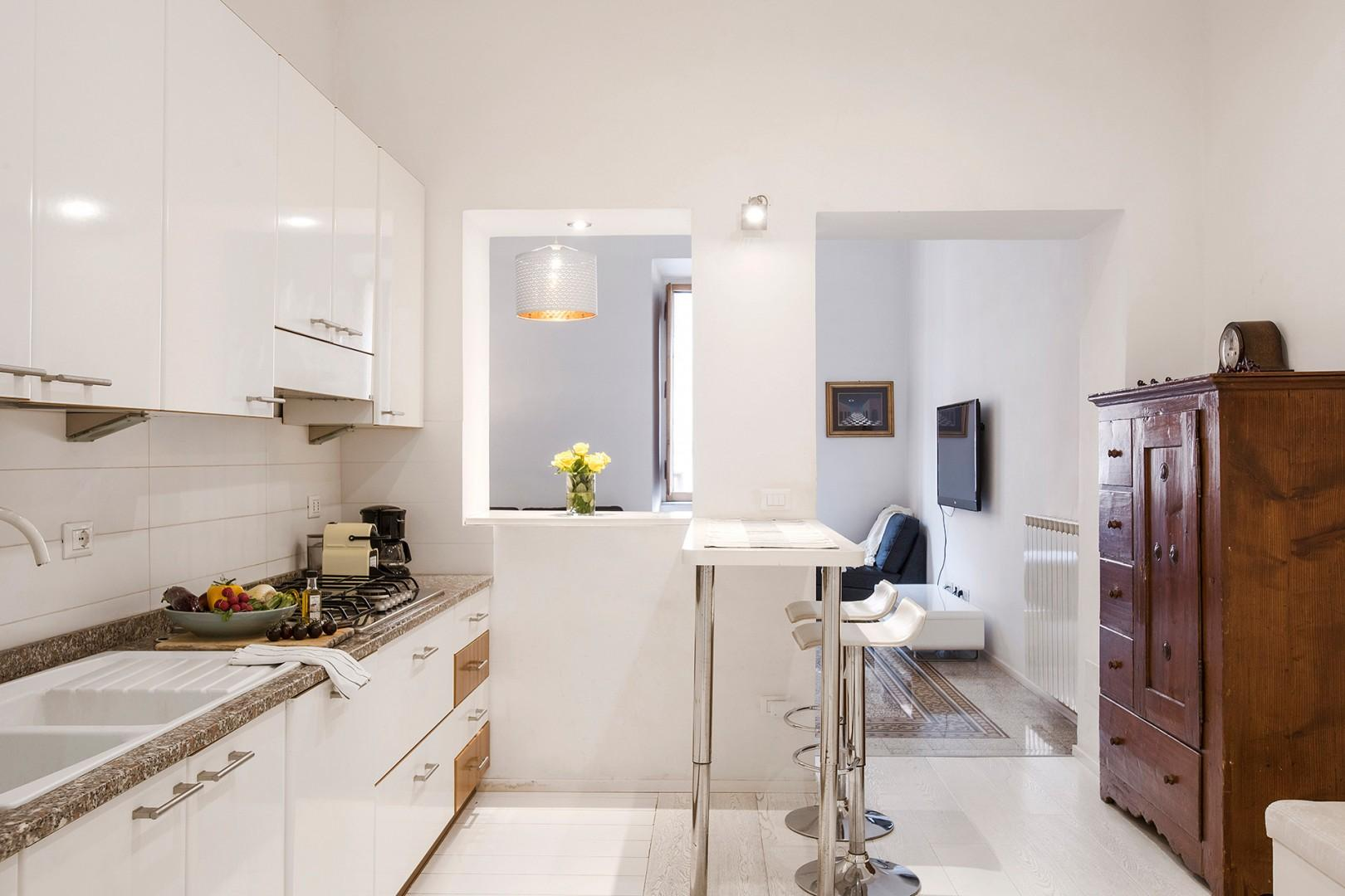 Large modern kitchen with a breakfast bar for 2.