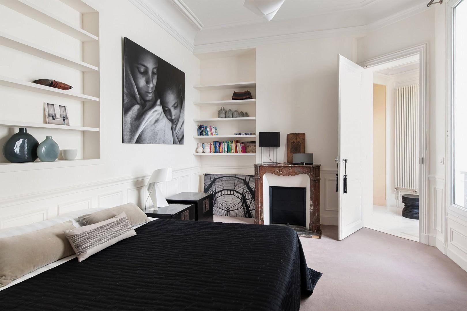 Original fireplace in bedroom 3