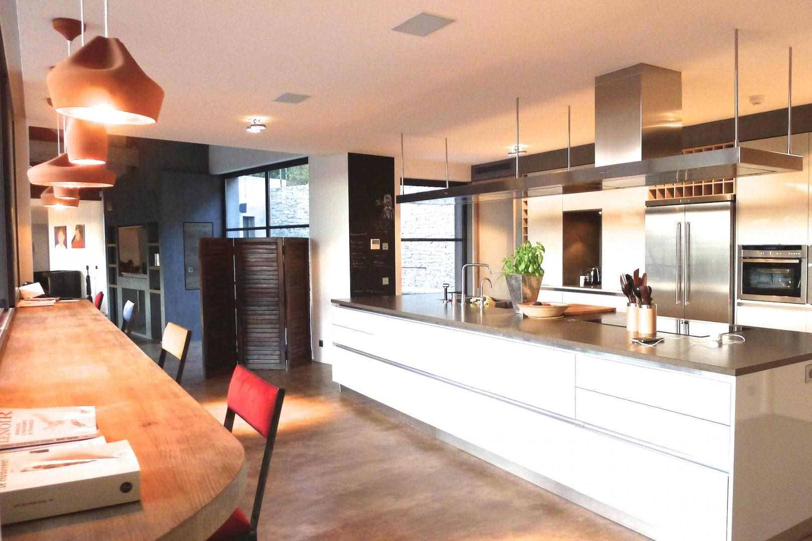 Open floor plan allows for socializing while preparing meals