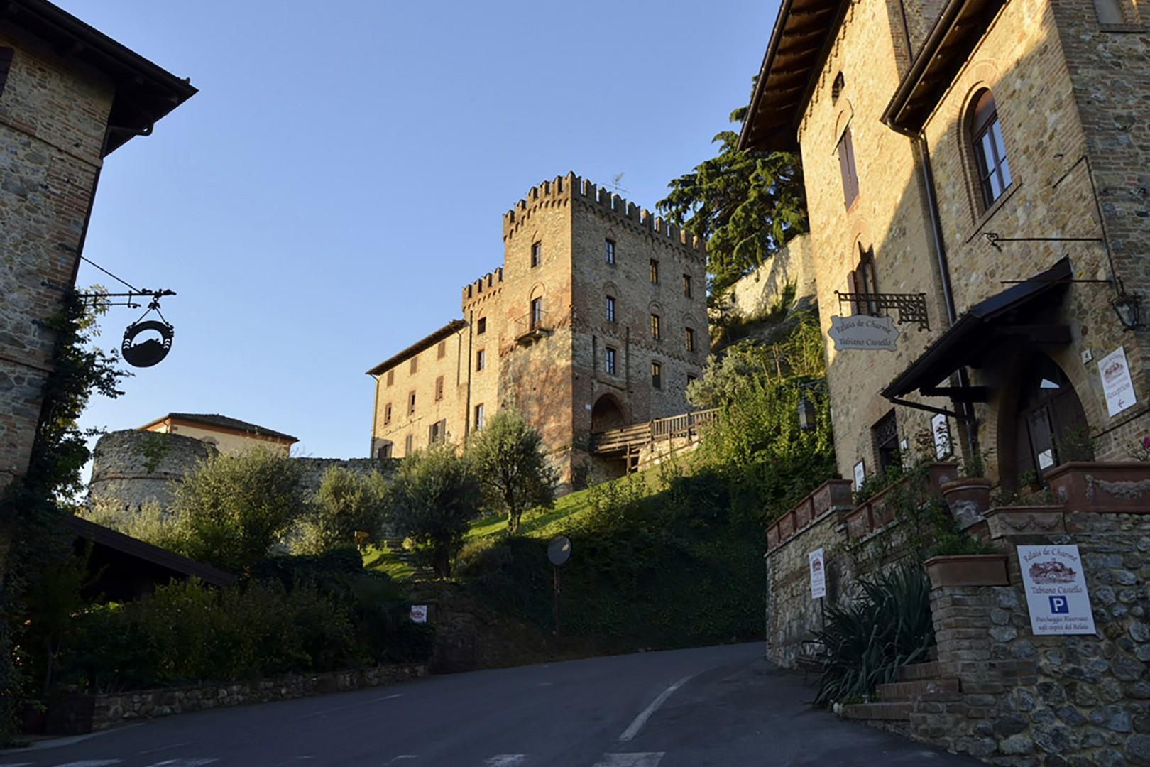 Charming streets of village that surrounds the castle.