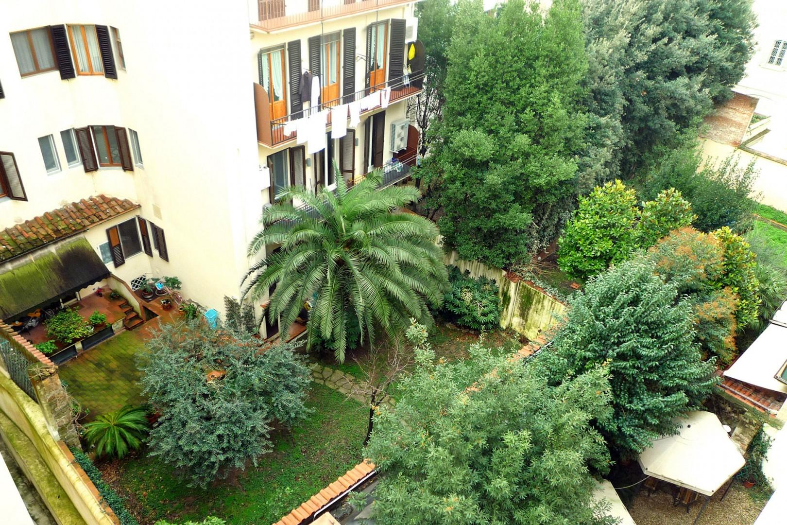 Balcony, kitchen and bedroom 1 have pleasant, peaceful views of back gardens.