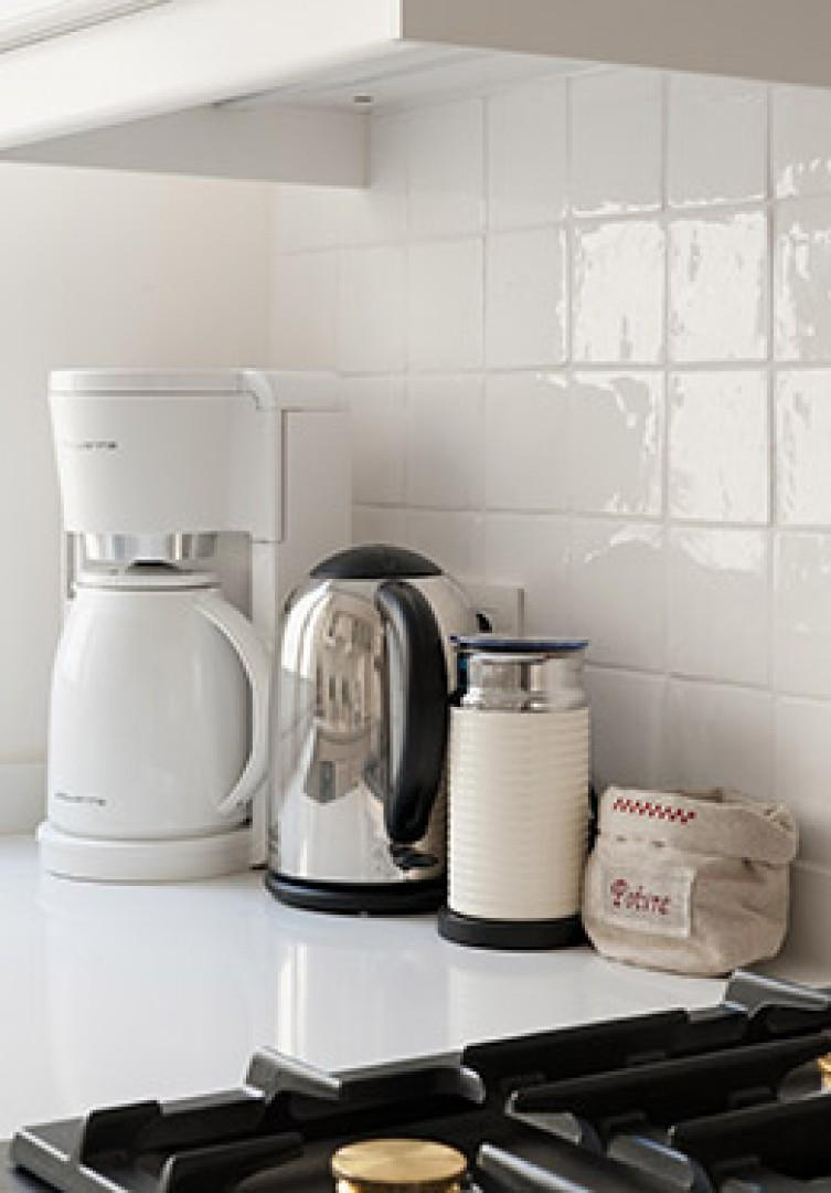 Complimentary coffee and Nespresso machines are available.