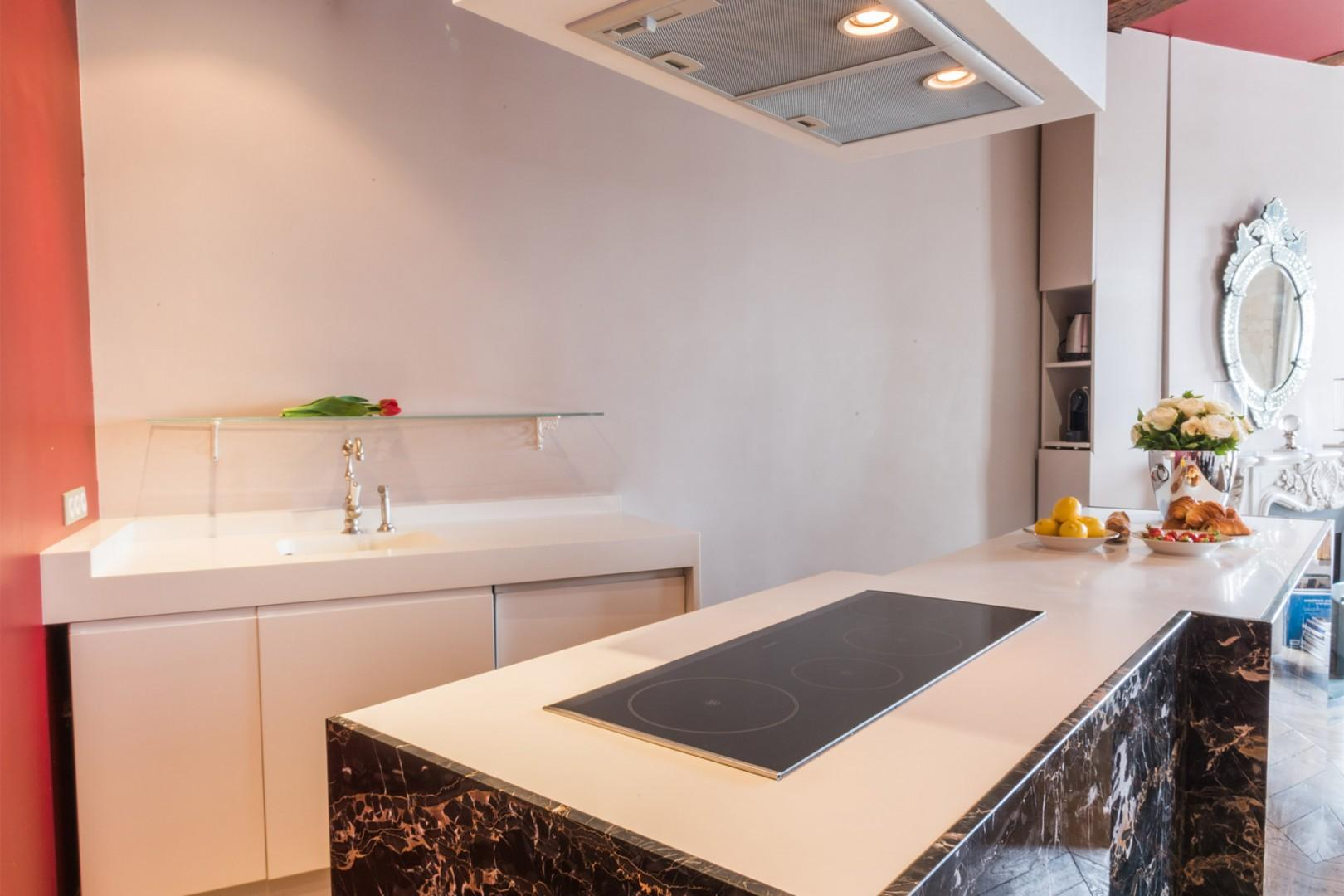 The kitchen is fully equipped with everything you need.