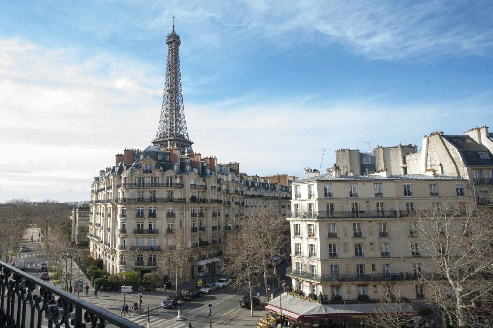 Look at this view of the Eiffel Tower from bedroom 1!
