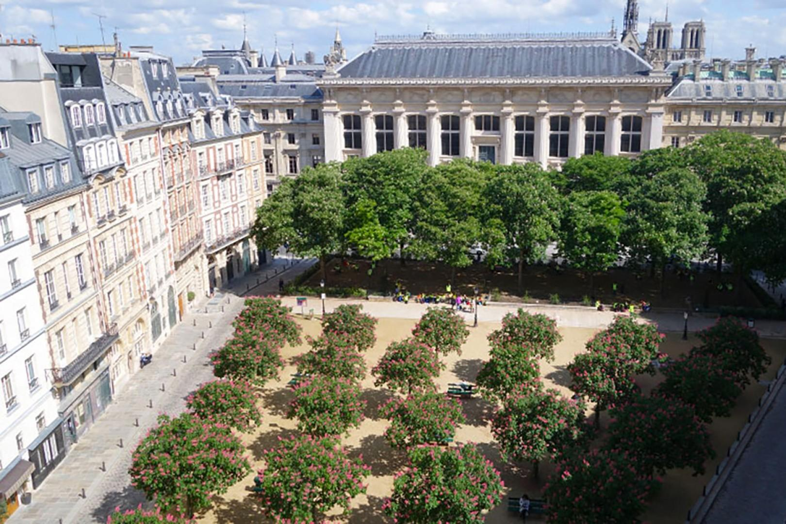 Incredible view overlooking beautiful Place Dauphine!
