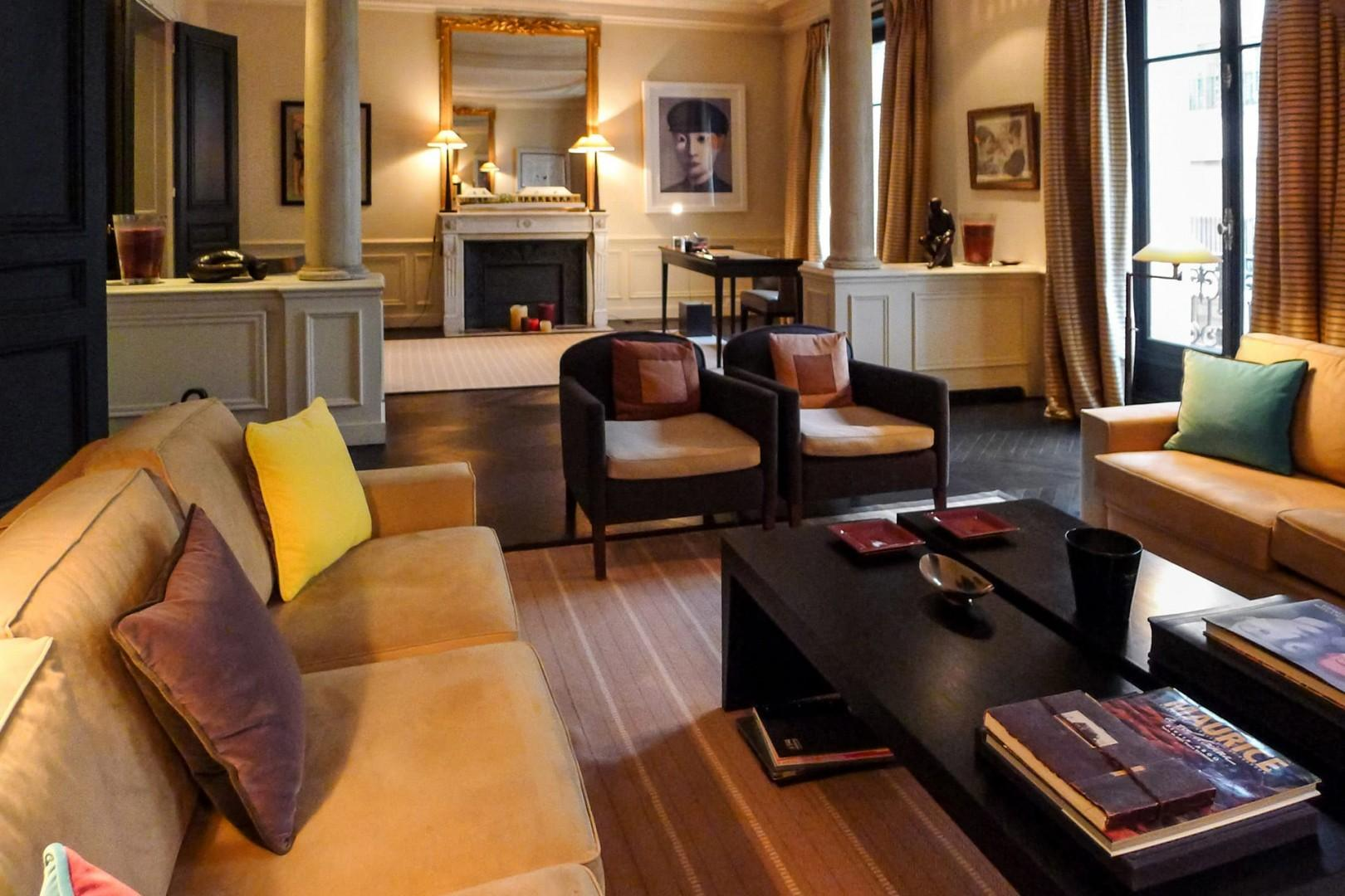 The double living room features a study, perfect for relaxing with family or friends.