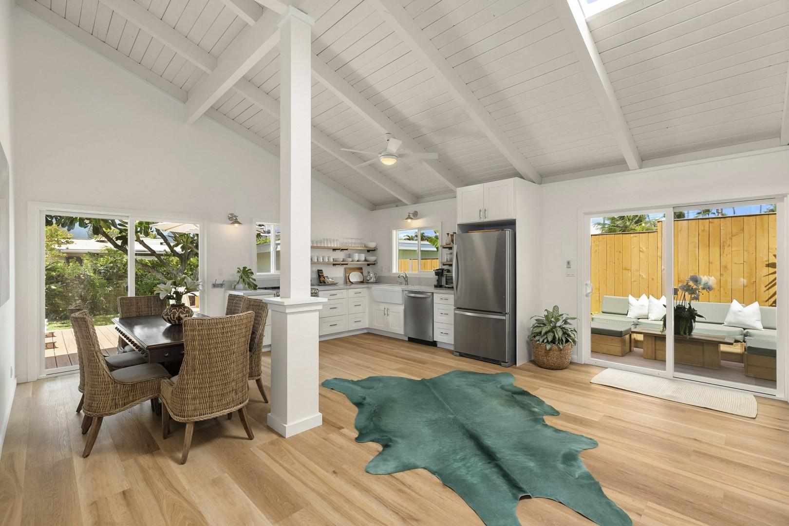 Open floor plan with Vaulted Ceilings and lots of natural light