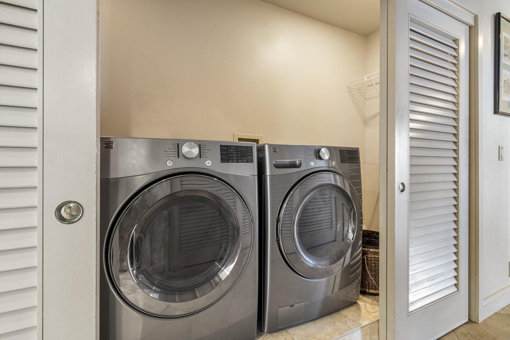 Full sized laundry onsite!