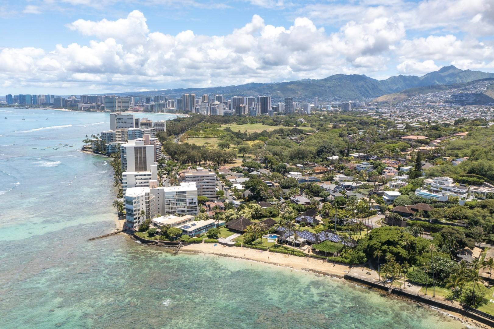 Located on the Gold Coast of Oahu steps from M?k?lei Beach Park