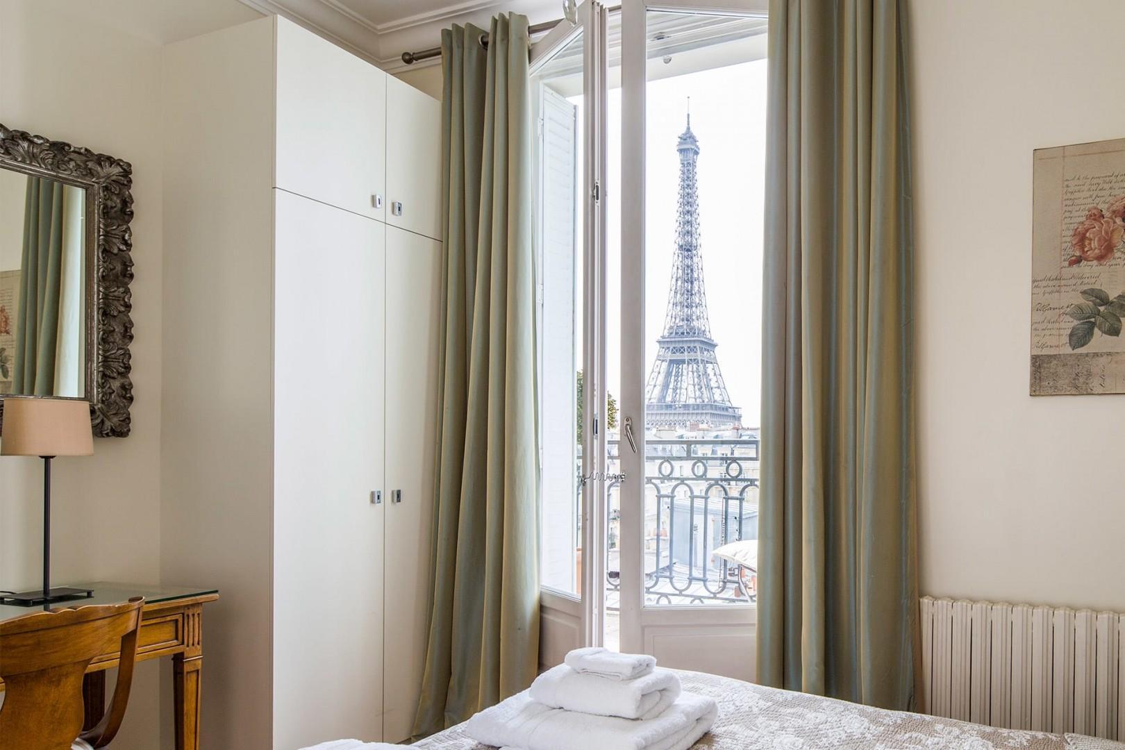 Wake up each morning to glorious views of Paris.
