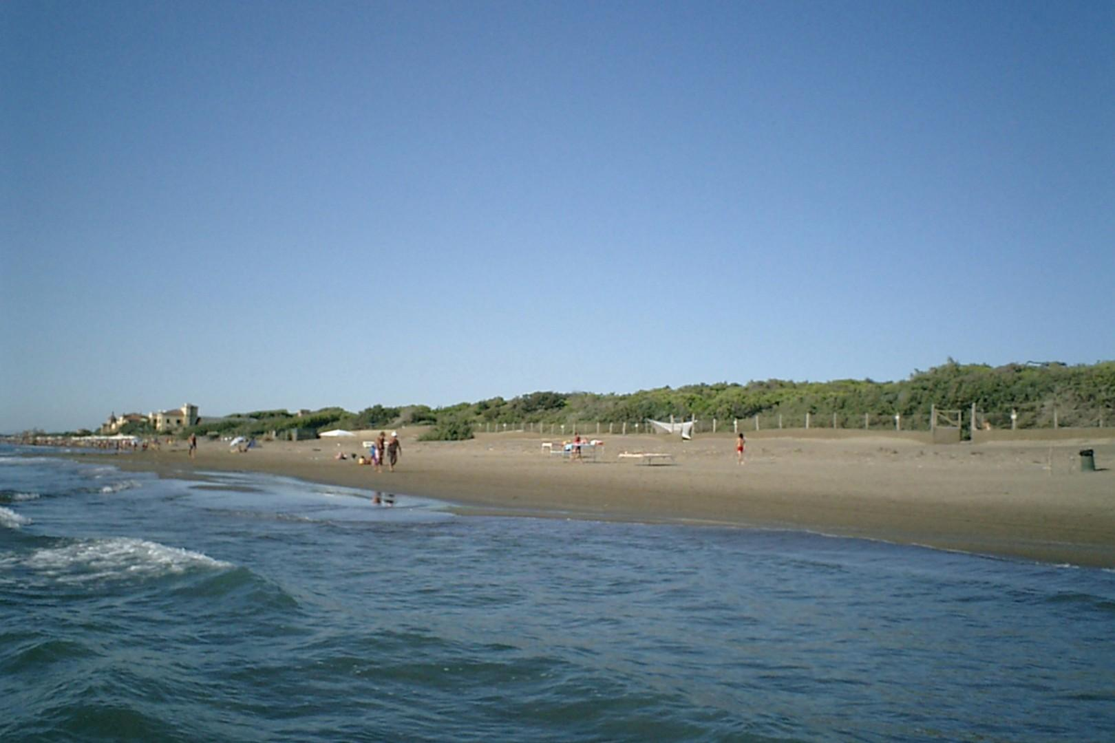 The beach is a few minutes drive from the property.