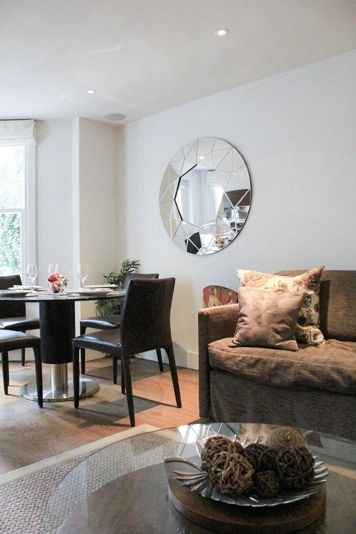 Open plan living and dining area makes excellent use of the space