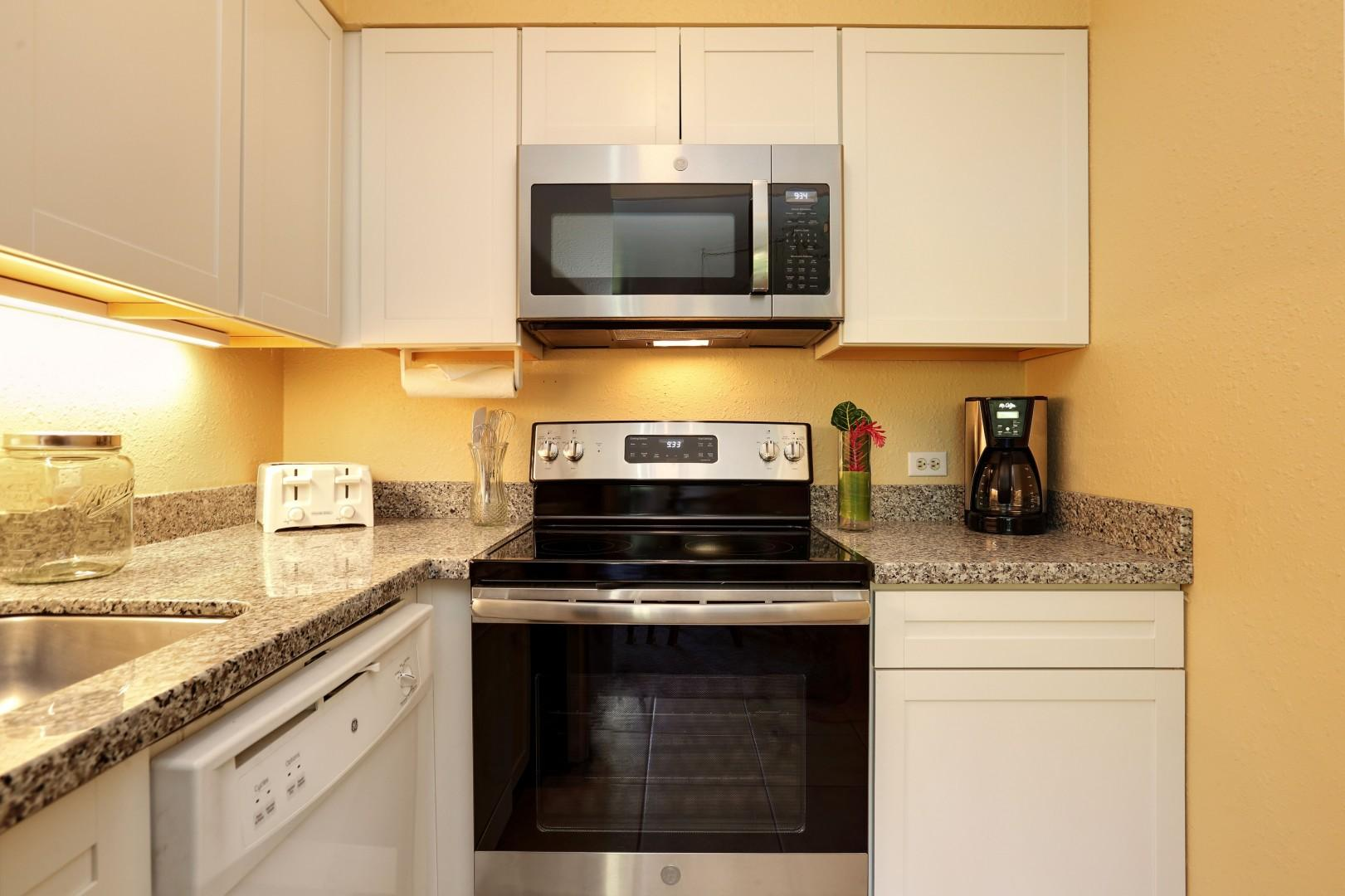 Kitchen with all the amenities needed to cook every meal