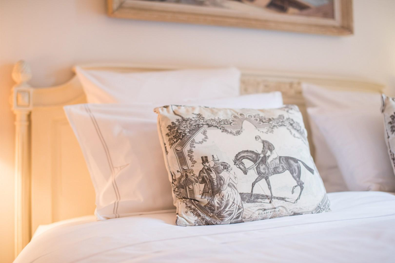 You will love sleeping in the luxurious bedding!