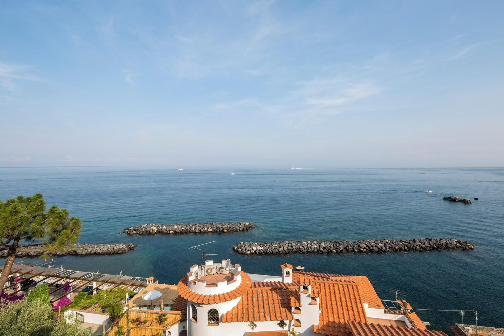 Villa Sole offers timeless views of the Mediterranean.