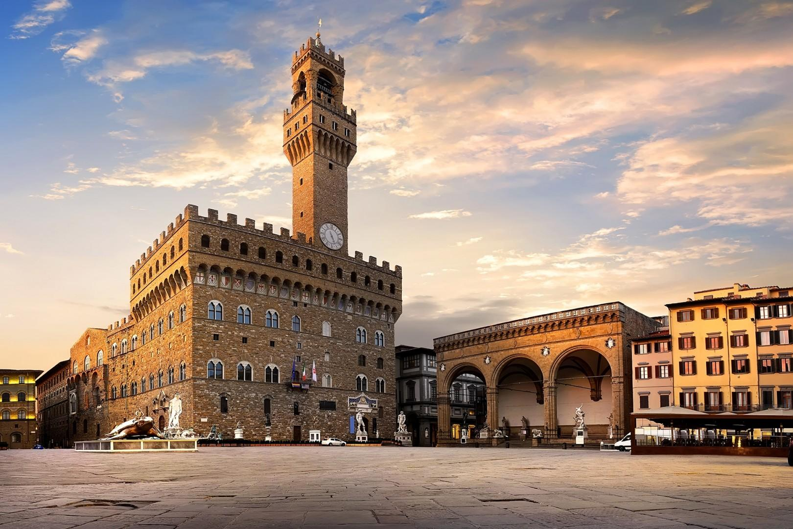 Piazza Signoria was the heart of Florence during the Renaissance. Everywhere you look find fascinating historical elements.