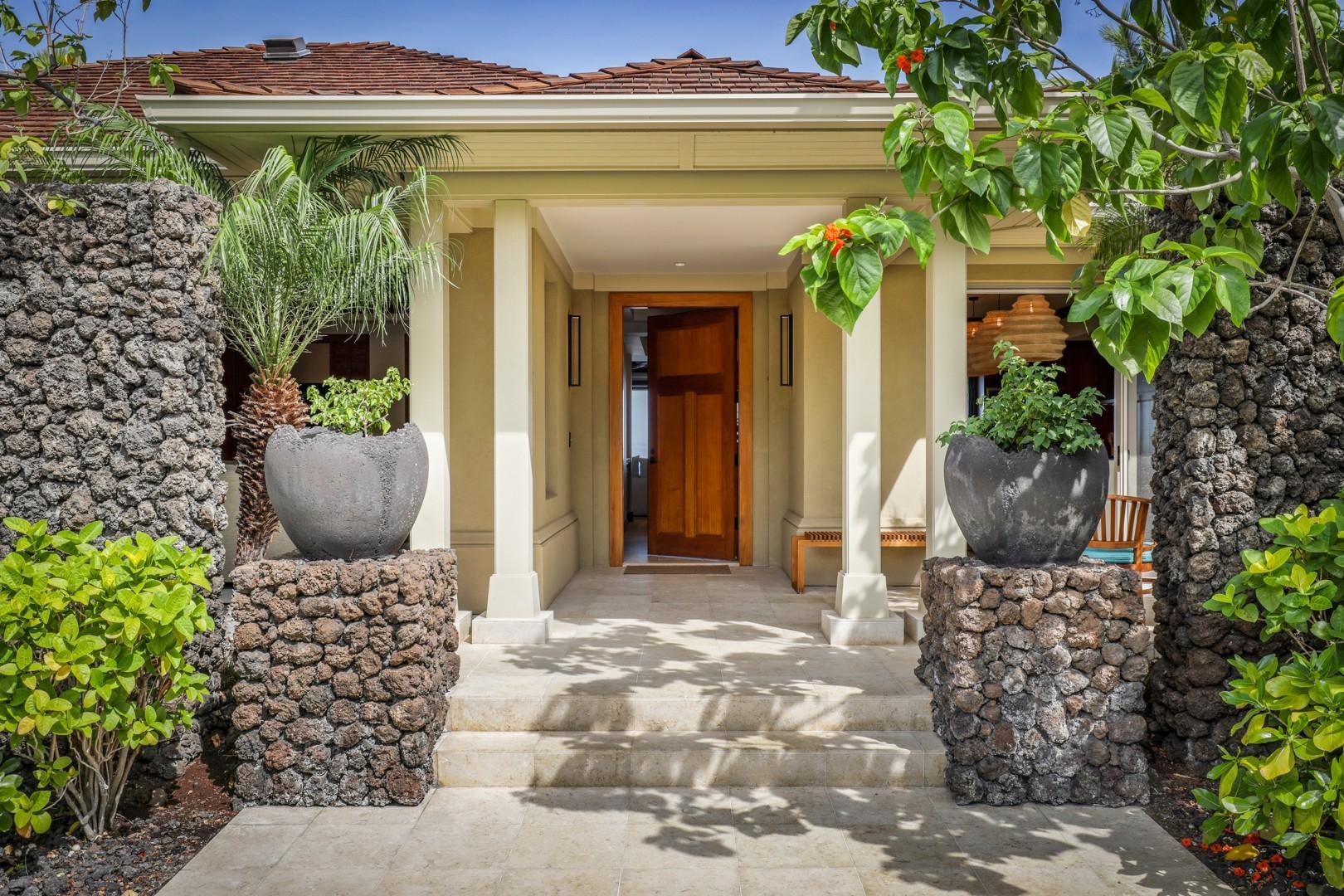 Elegant front entrance.