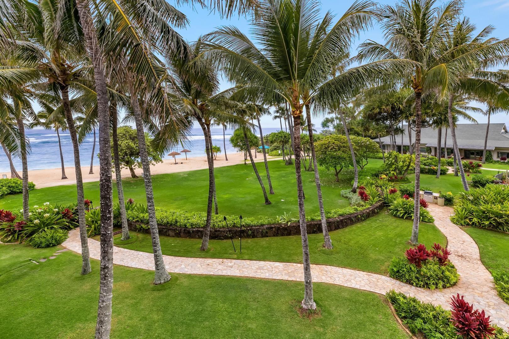 Ocean Villa walkway
