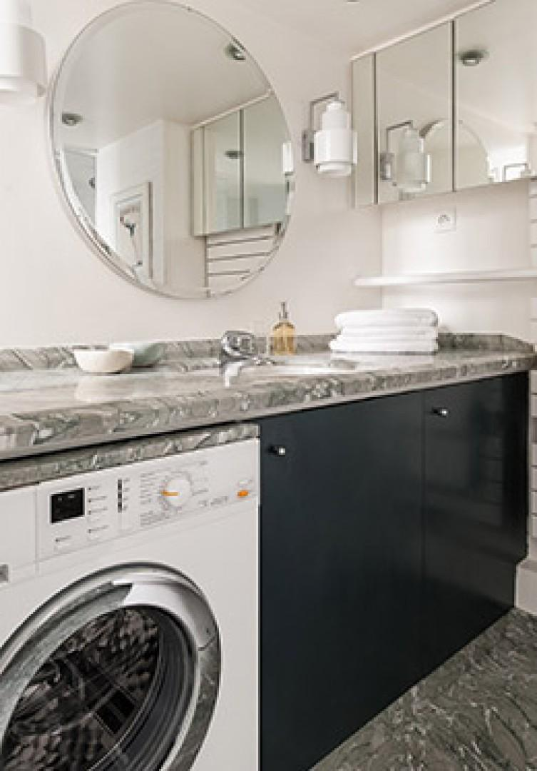 Washer with drying rack available for your convenience