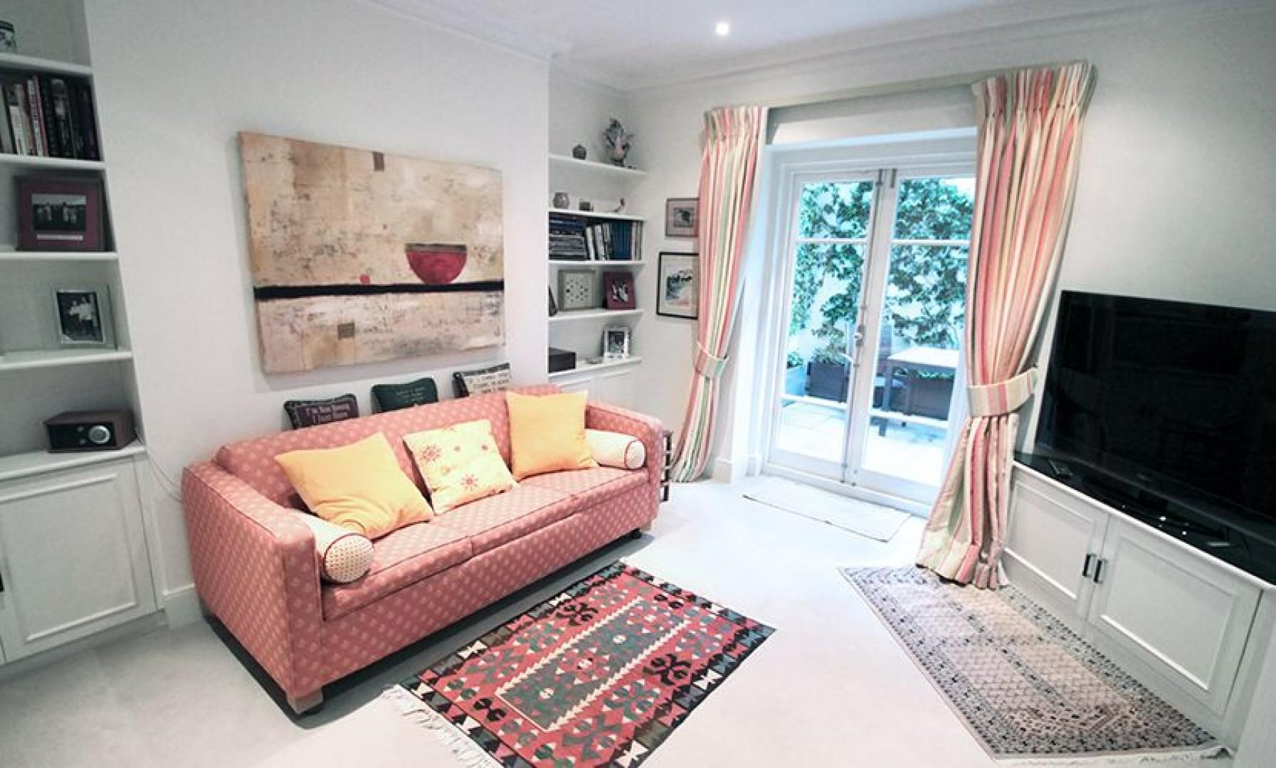 Comfy den with access to the private patio garden