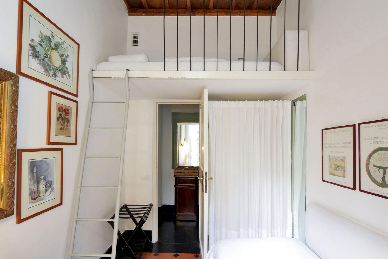 Bedroom 2 with sleeping loft.