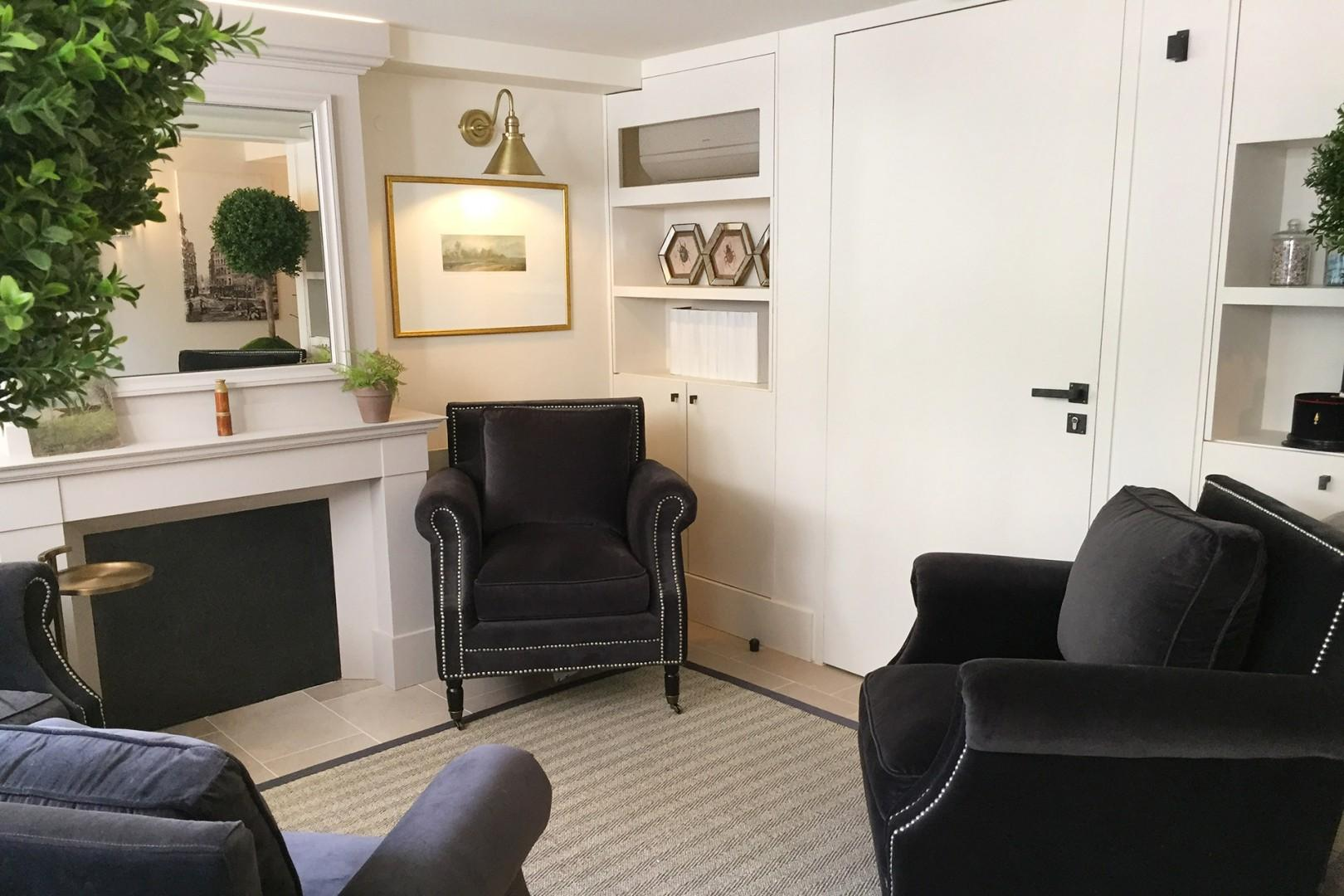 Enjoy the comforts of the armchairs in the lobby.