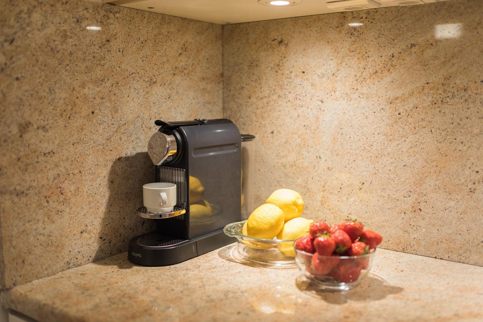 Enjoy freshly brewed coffee every morning!