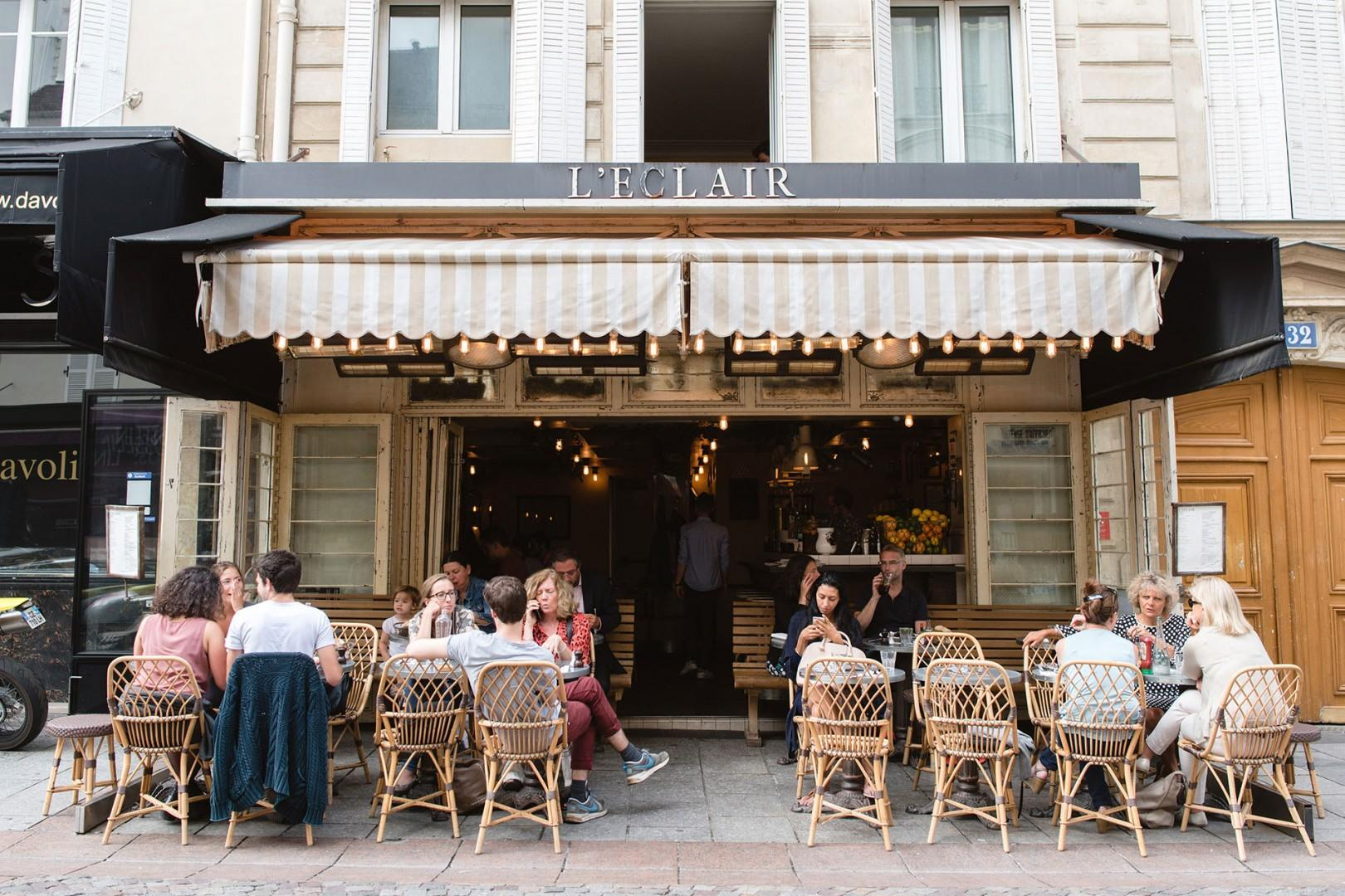 Enjoy Eclaire cafe on rue Cler