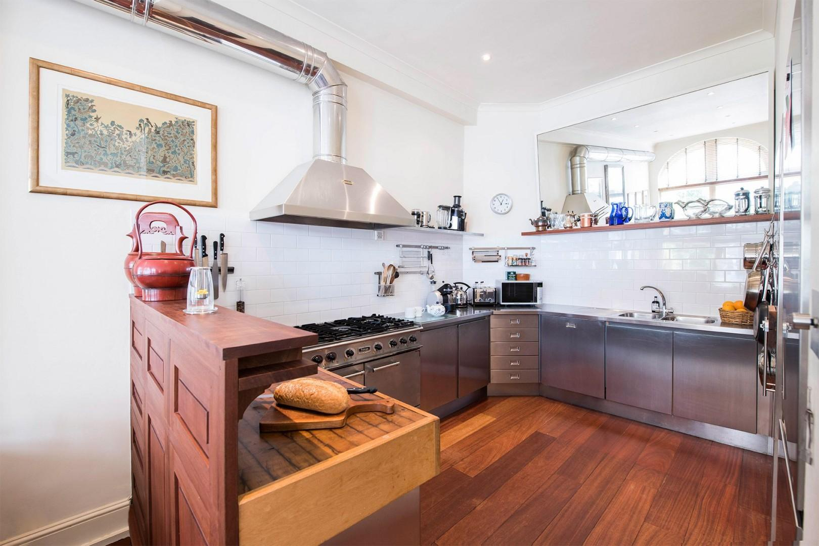 Modern kitchen equipped with everything you need to cook at home