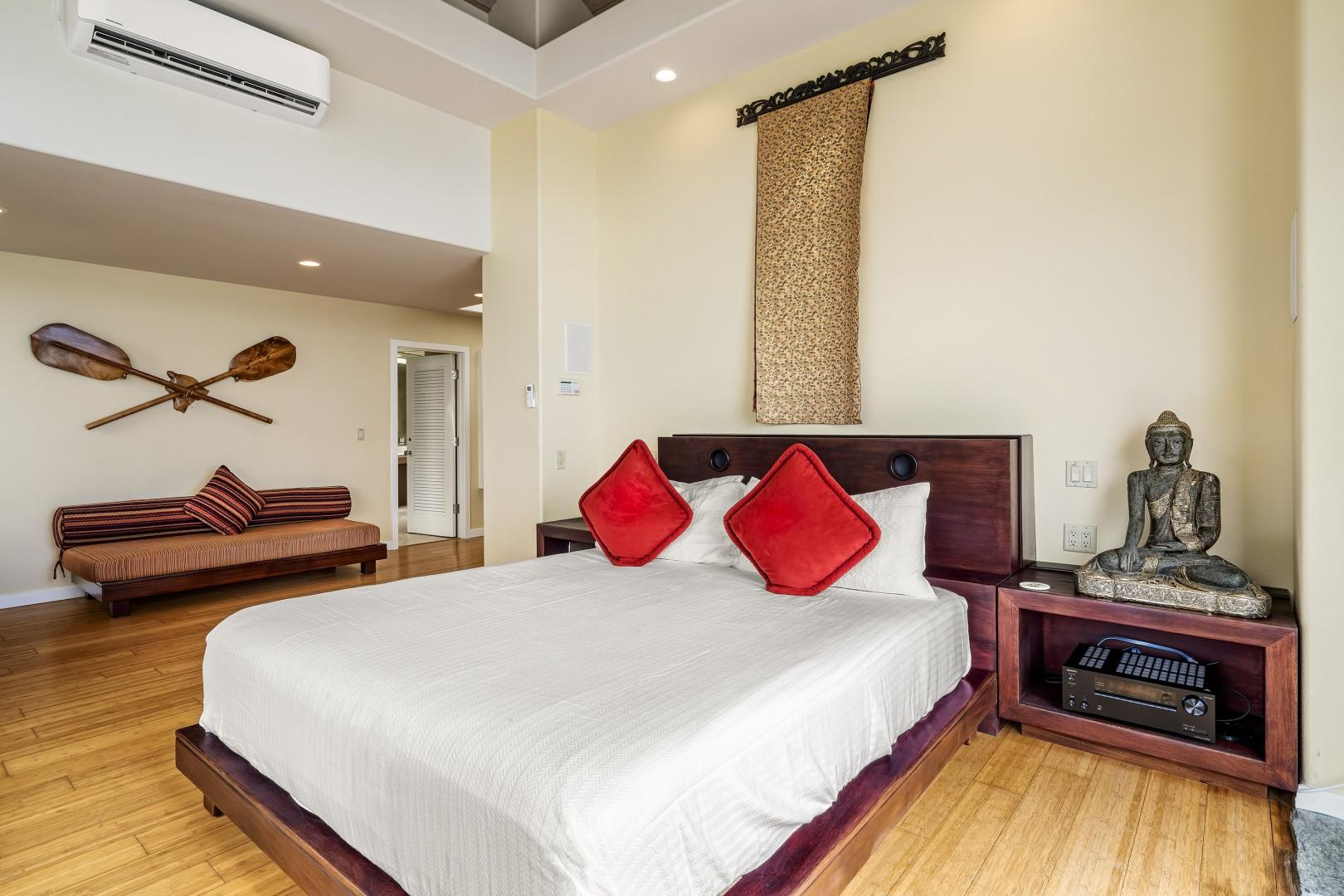 Equipped with King bedroom in the Master bedrooms