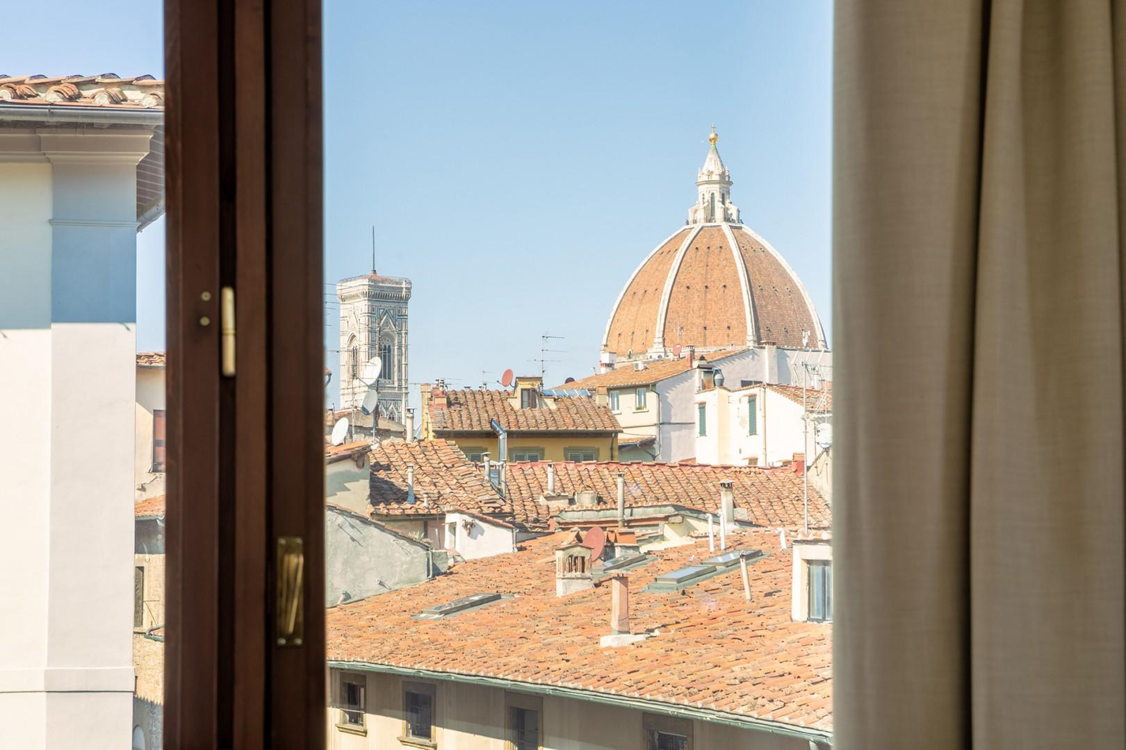 Spectacular view of the Duomo from the living room.