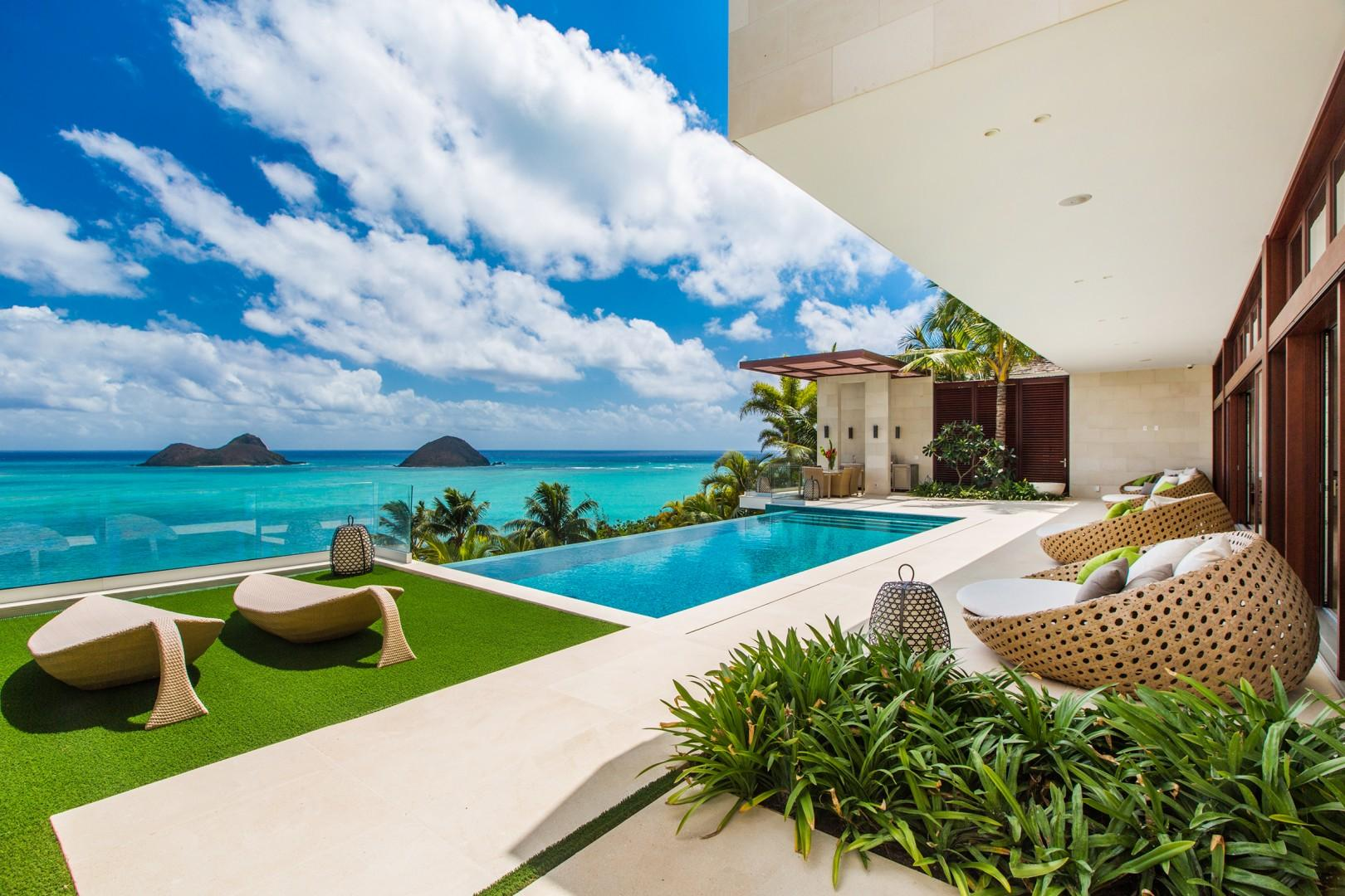 Heavenly views from the infinity edge pool