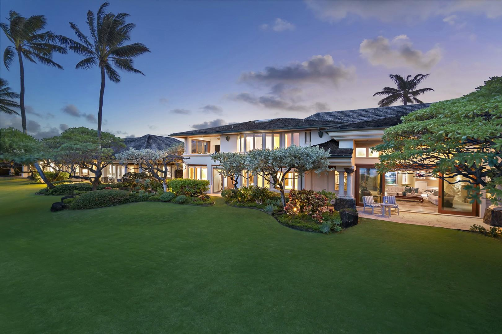 Expansive private lawn.