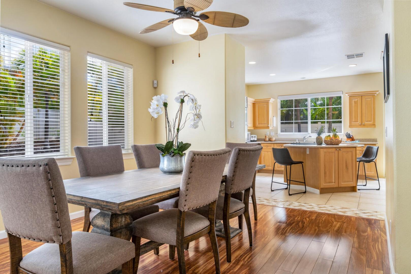 Dining room with open concept to kitchen