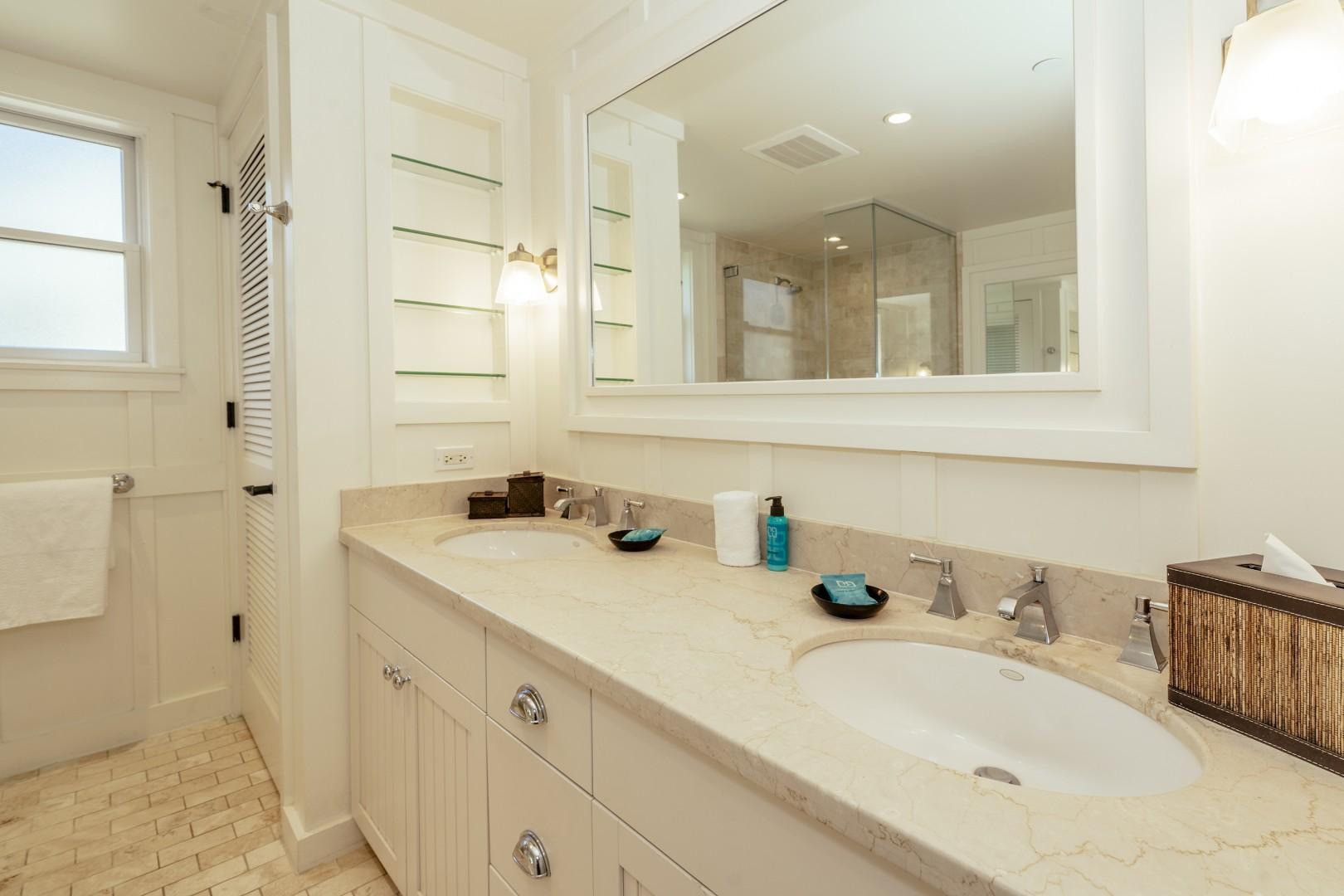 The rest of your master bathroom.