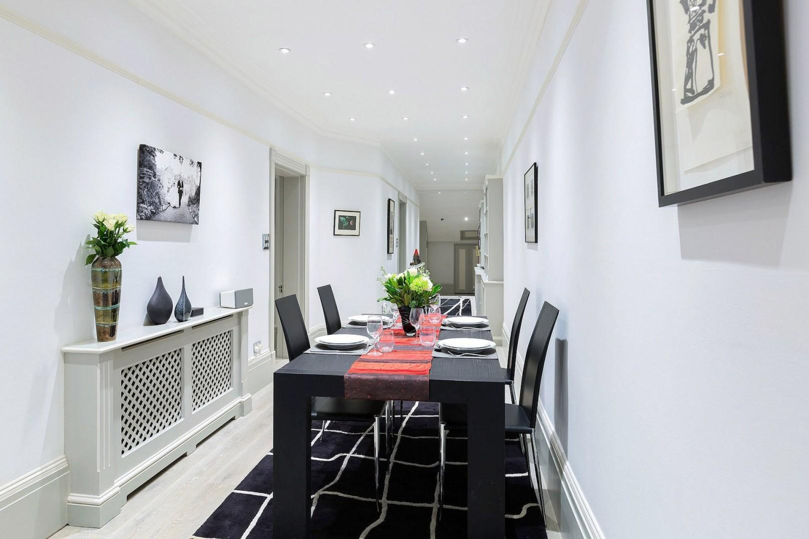 Large dining table perfect for entertaining