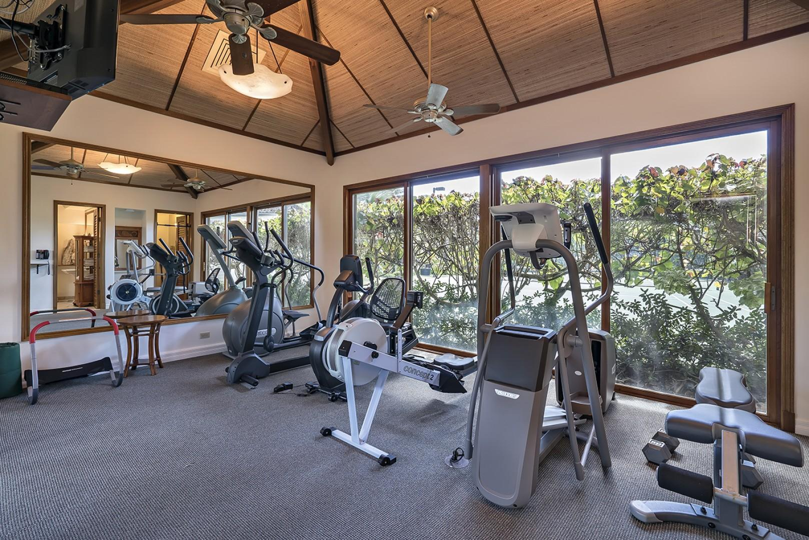 Fitness Center with central A/C.