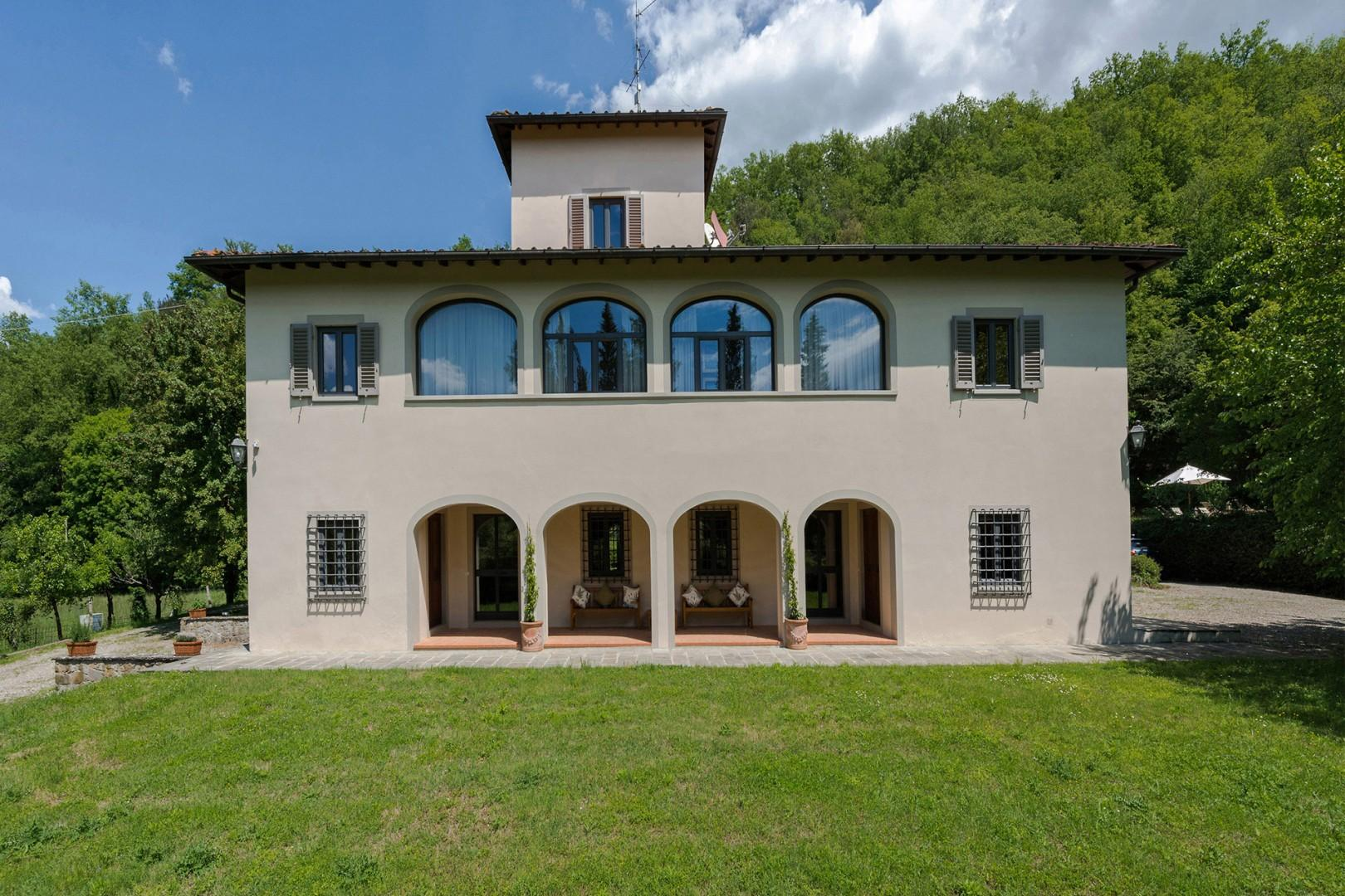 Villa Felice has been carefully restored to take advantage of the privacy and views.